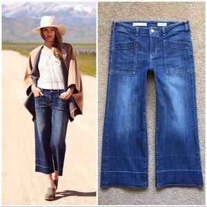 Anthropologie Mid-Rise Pilcro Wide Leg Crop Jeans